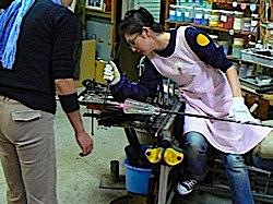 吹きガラス工程4