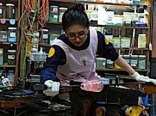 吹きガラス工程6