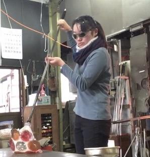 主基グラススタジオ工房作家Kan